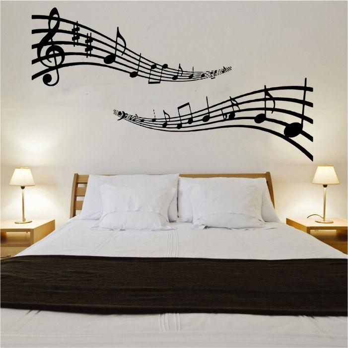 Musical Notes Vinyl Wall Art | Shop Pertaining To Music Note Wall Art (View 8 of 20)