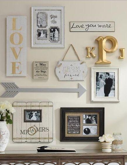 My Gallery Wall Of Wedding Photos | Photo Collage Ideas Pertaining To Framed Monogram Wall Art (Image 13 of 20)