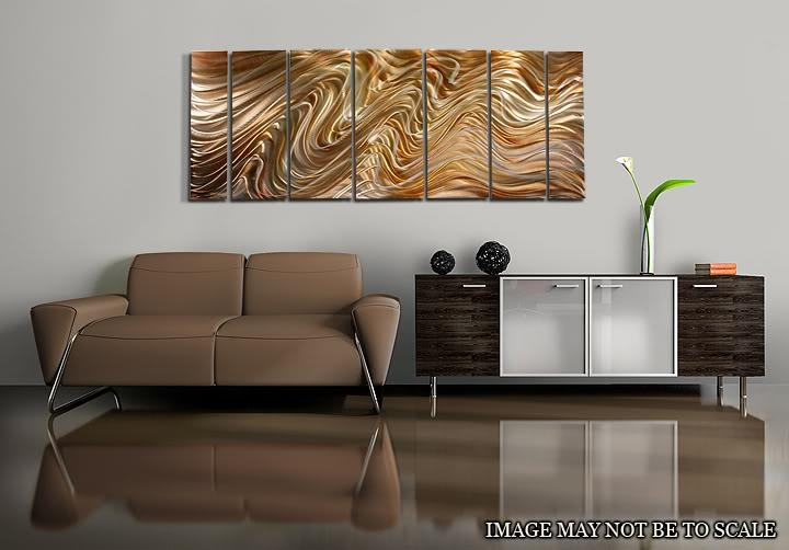 Mystic Desert Xl – Huge Abstract Painted Silver/gold Metal Wall Within Metal Abstract Wall Art (View 15 of 20)
