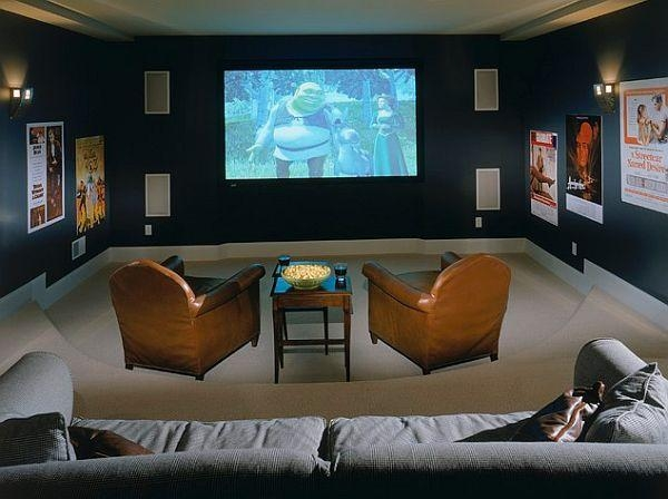 N Awesome Media Rooms Designs | Dream Home Style Intended For Media Room Wall Art (Image 18 of 20)