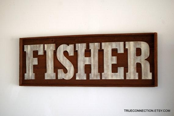 Name Sign Framed Custom Kids Room Last Name Wall Art Within Last Name Wall Art (Image 17 of 20)