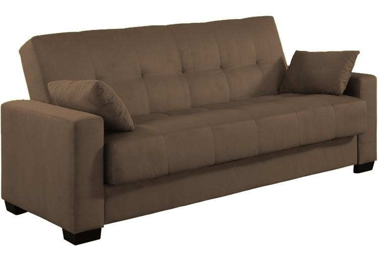 Napa Contemporary Sleeper Futon Bed | Brown Sleeper Sofa | The In Leather Fouton Sofas (Image 19 of 20)