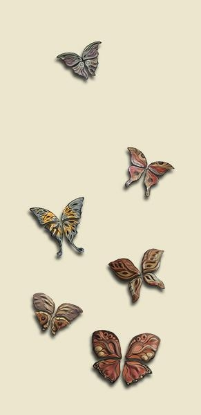 Natalie Blake Studios Makes Wall Tiles In The Shape Of Butterflies In Ceramic Butterfly Wall Art (Image 16 of 20)