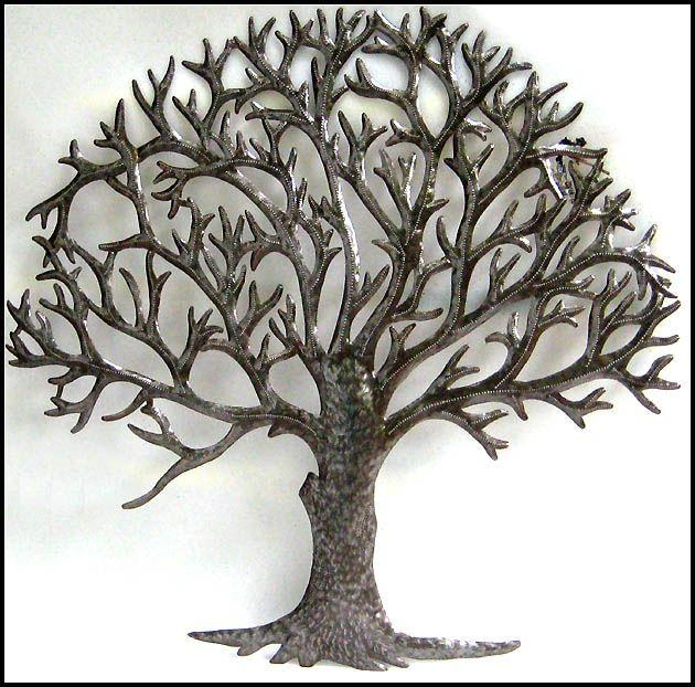 Natural Metal Tree Wall Art Decoration Ideas: Metal Tree Wall Art Throughout Metal Tree Wall Art Sculpture (Image 14 of 20)