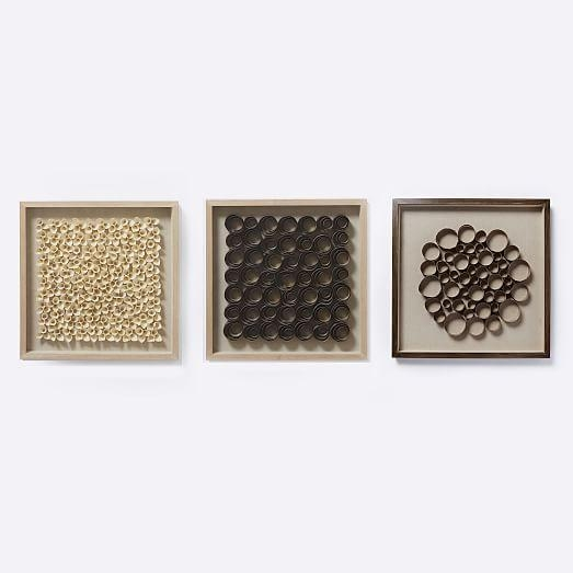 Nature Of Wood Wall Art – Gray | West Elm Intended For Dark Wood Wall Art (View 2 of 20)