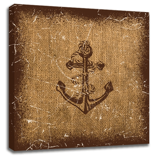 Nautical Anchor Canvas Wall Art 24×24 | Trendy Wall Squares With Nautical Canvas Wall Art (Image 15 of 20)