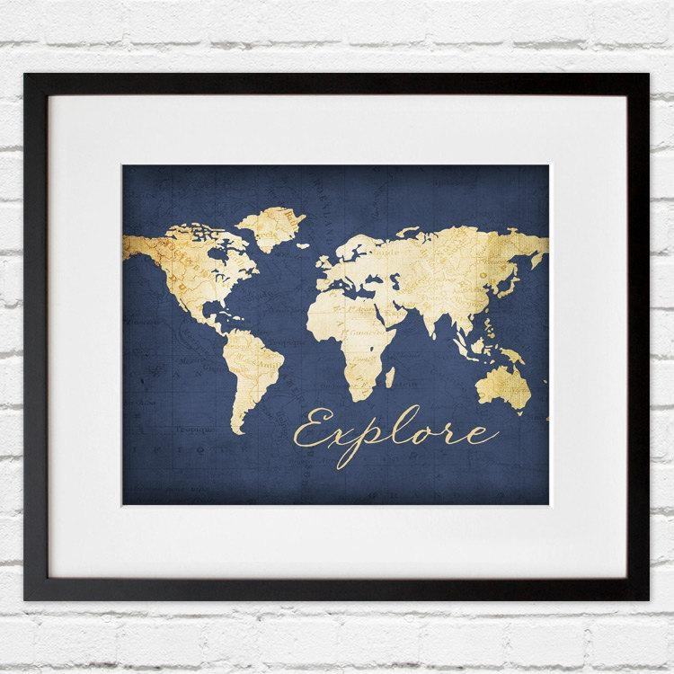 Navy Blue Explore Wall Art Pertaining To Navy Blue Wall Art (Image 16 of 20)