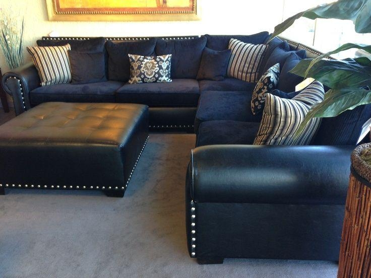 Navy Blue Leather Sectional Sofa | Home Furniture Design | Ideas With Blue Leather Sectional Sofas (Image 14 of 20)