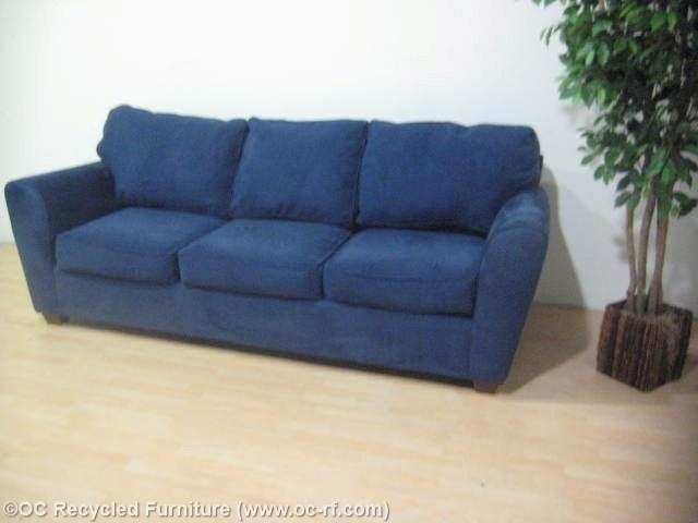 Navy Blue Modern Sofa Bauhaus 2 Throughout Blue Microfiber Sofas (Image 17 of 20)
