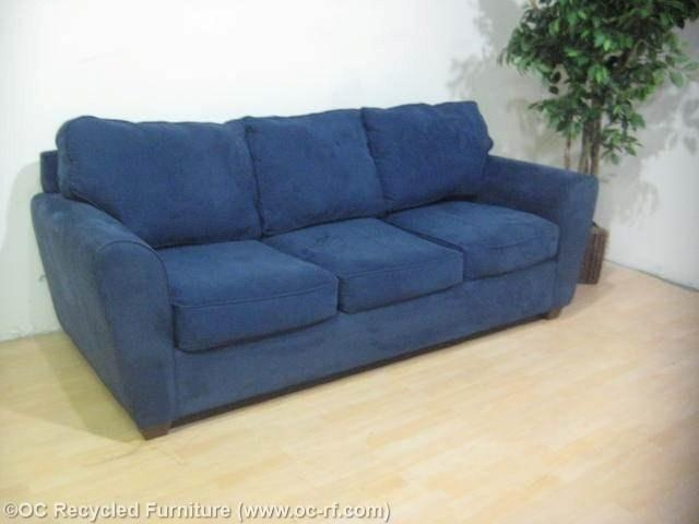 Navy Blue Modern Sofa Bauhaus 3 Throughout Blue Microfiber Sofas (Image 18 of 20)