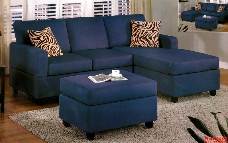 Navy Blue Sectional Couch (Image 15 of 20)