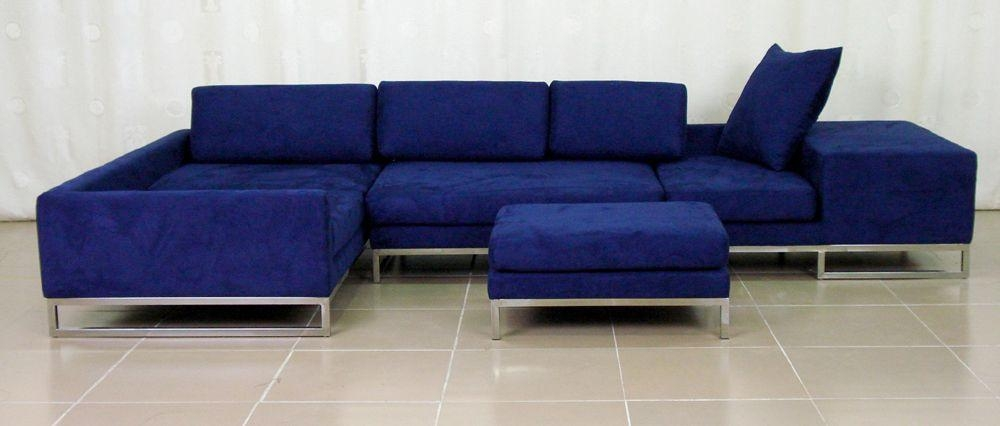 Navy Blue Sectional Sofas: 11 Cool Navy Blue Sectional Sofa For Blue Sofas (Image 16 of 20)