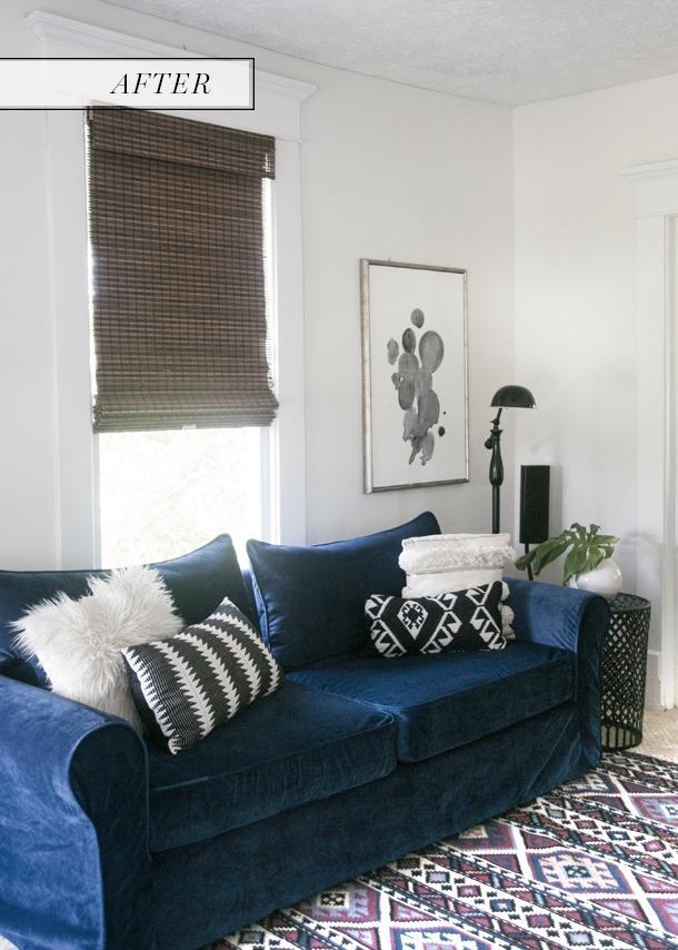 Navy Blue Sofa & Comfort Works Custom Slip Cover Review – Earnest For Navy Blue Slipcovers (Image 11 of 20)
