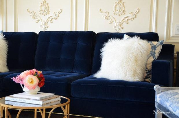 Navy Blue Tufted Sofa – Cre8Tive Designs Inc (Image 14 of 20)