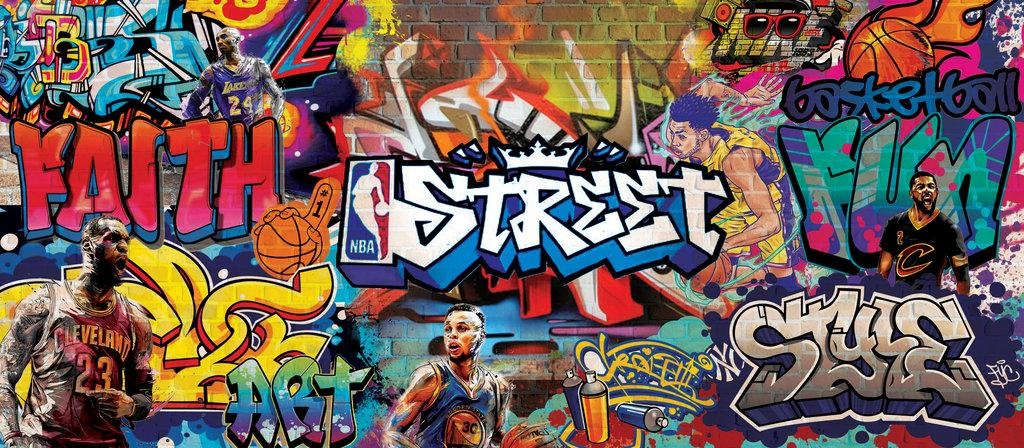 Nba Graffiti Wall Muralgossipgirl013 On Deviantart With Regard To Nba Wall Murals (Image 10 of 20)