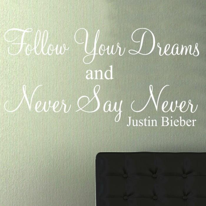 Never Say Never Justin Bieber Wall Art Sticker Quote – Windsor For Justin Bieber Wall Art (View 11 of 20)