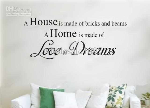 New Arrive Home Wall Art ' Love & Dreams 'wall Stickers Wall Throughout Love Wall Art (Image 19 of 20)