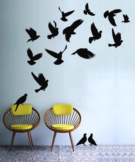 New Beginnings: 12 Art Projects Inspiredbirds Migration With Flock Of Birds Wall Art (Image 17 of 20)