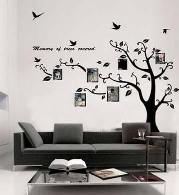 New Large Black Photo Picture Frame Tree Vine Branch Removable Intended For Tree Branch Wall Art (View 15 of 20)