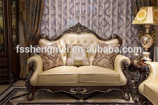 New Luxury Wood Sofa Set Classic Design Wood Carving Sofa Charming With Carved Wood Sofas (Image 11 of 20)