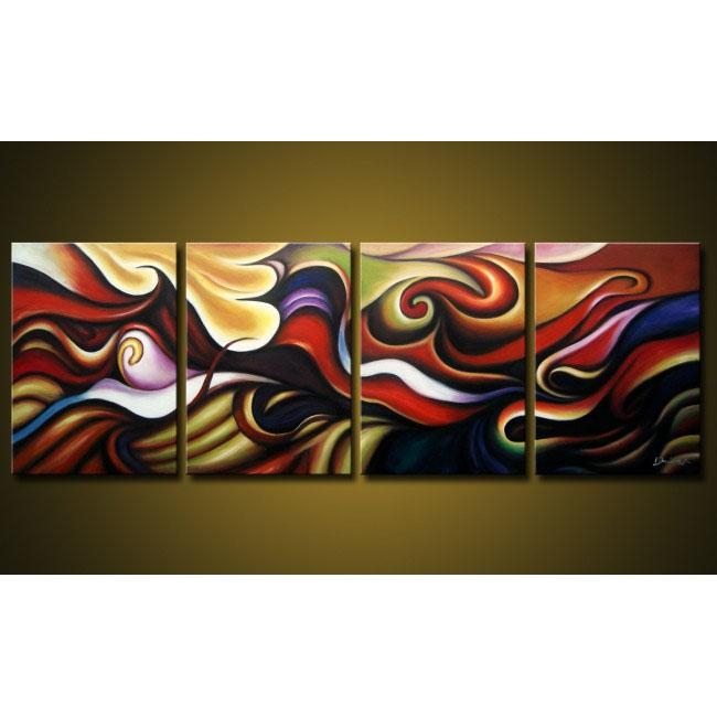 New Products : Canvas Art, Painting On Canvas With 4 Piece Canvas Art Sets (Image 17 of 20)