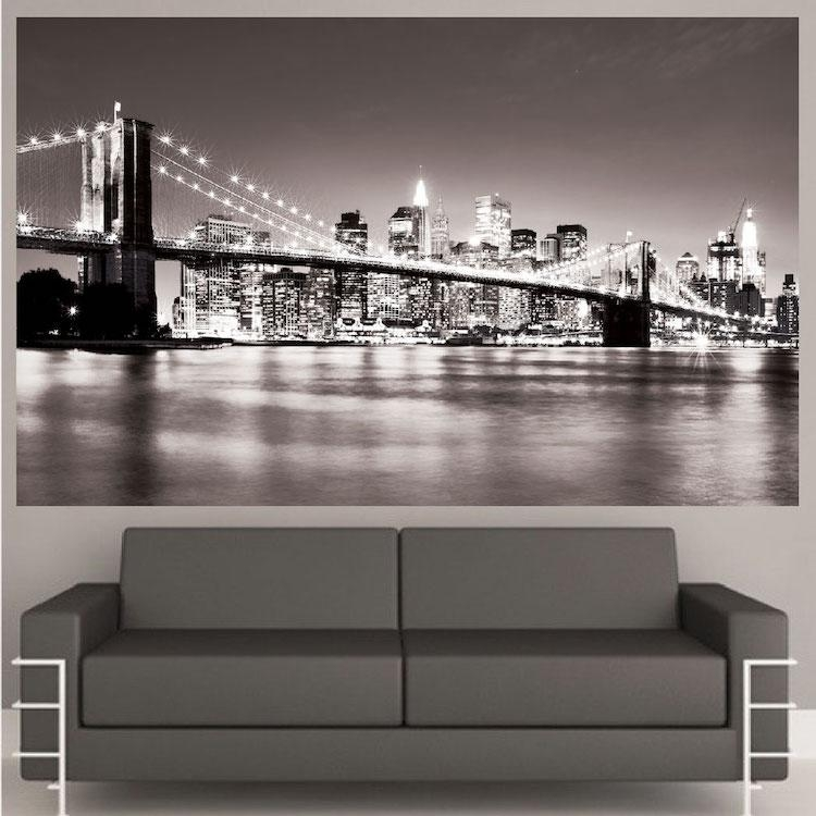 New York Bridge Mural Decal – View Wall Decal Murals – Primedecals Inside Brooklyn Bridge Wall Decals (Image 11 of 20)