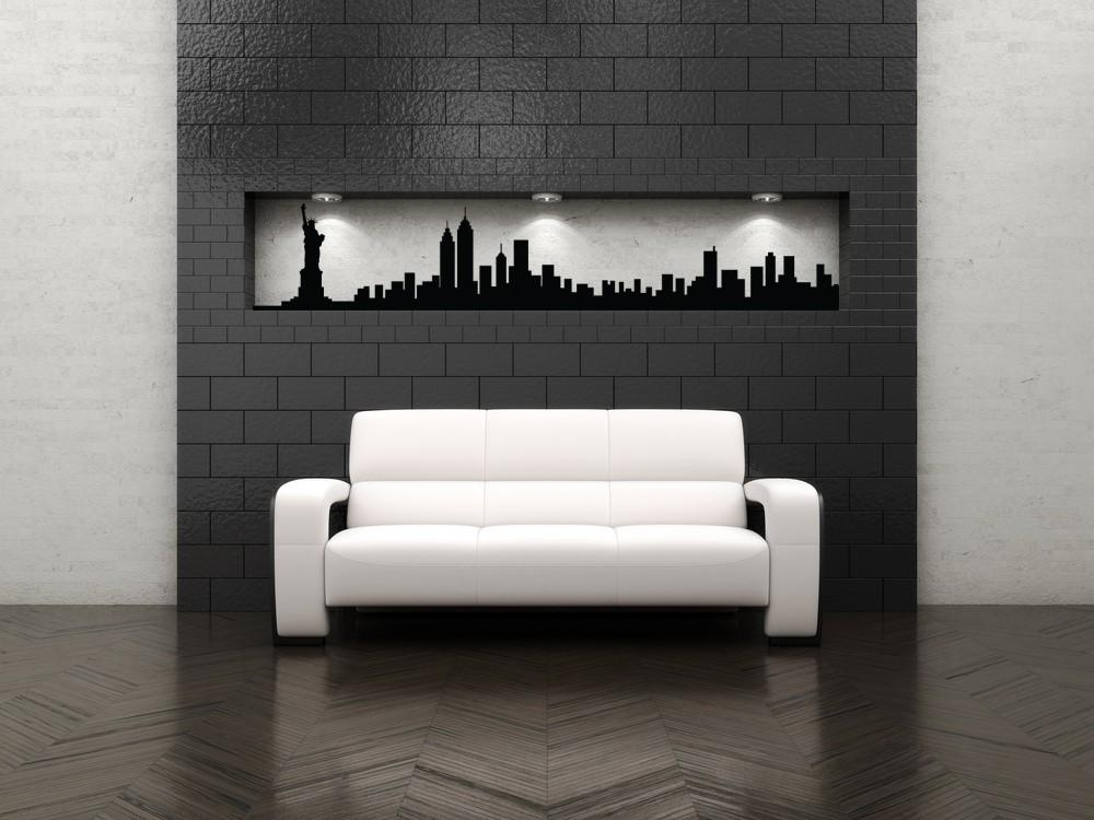 New York Skyline Decal New York City Art New York City Wall Pertaining To New York City Wall Art (Image 6 of 20)
