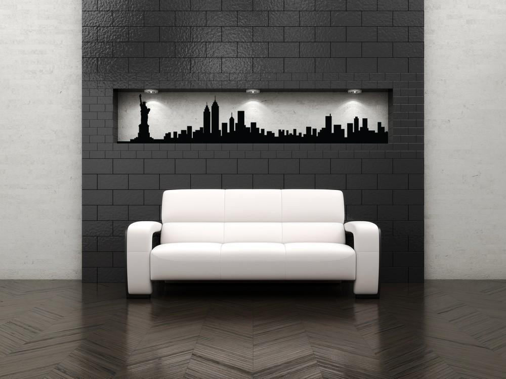 New York Skyline Decal New York City Art New York City Wall Pertaining To New York City Wall Art (View 14 of 20)