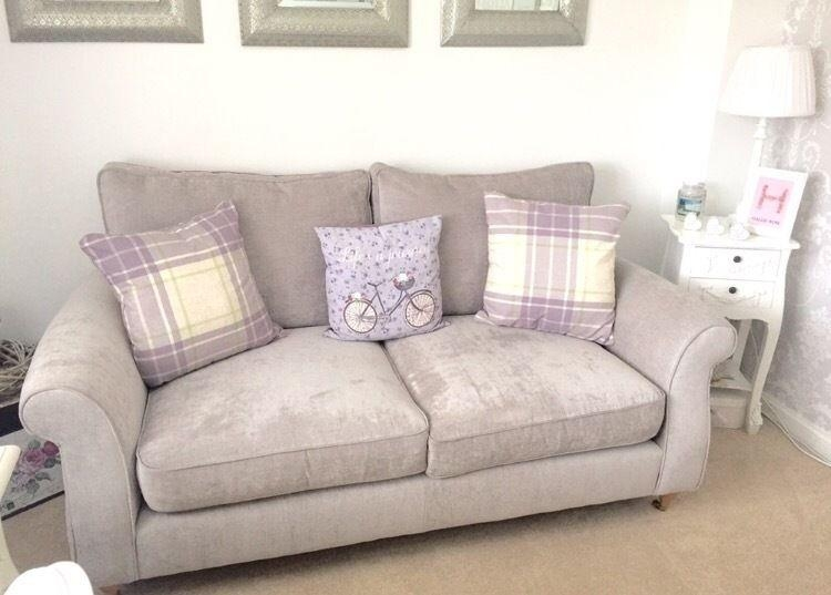 Next Ashford 2 And 3 Seater Sofas Brand New Silver Sumptuous Within Ashford Sofas (Image 16 of 20)