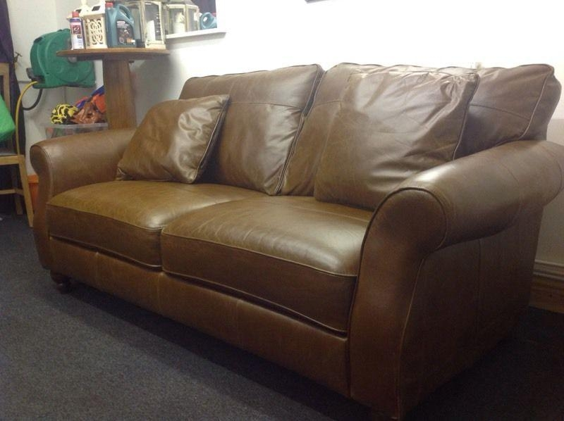 Next Sofa Ashford Brown Leather Sofa 3 Seater | In Newport | Gumtree Within Ashford Sofas (Image 18 of 20)