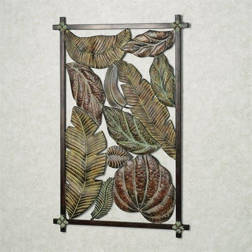 Niobe Ii Palm Leaf Metal Wall Art In Palm Leaf Wall Art (View 11 of 20)