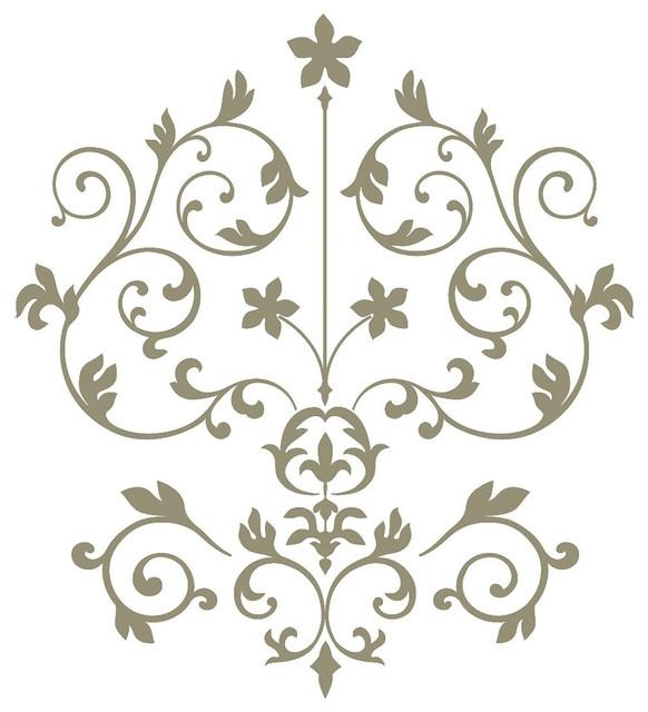Nouveau Damask Wall Art Decal Kit – Contemporary – Wall Decals Pertaining To Art Nouveau Wall Decals (View 18 of 20)