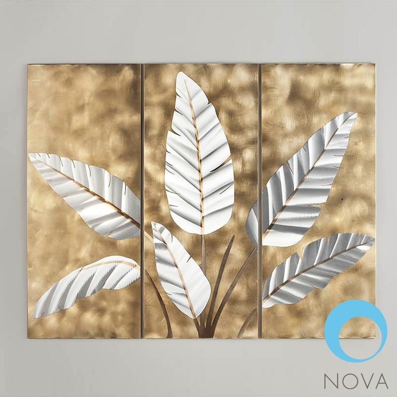 Nova Metallic Leaves|Nova Metallic Leaves Wall Artjon Gilmore Within Nova Wall Art (Image 6 of 20)