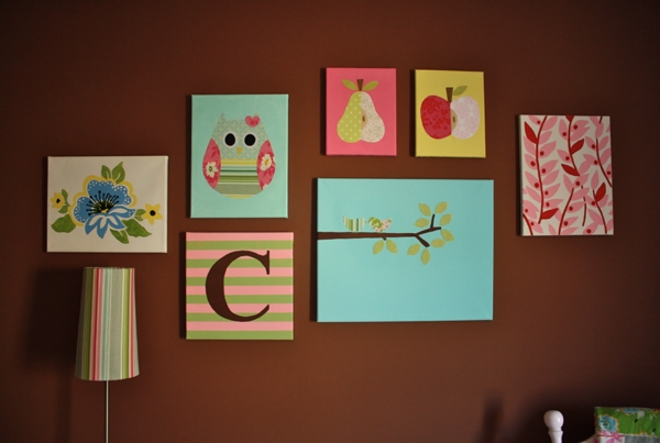 Nursery Canvas Tutorial | Sew Like My Mom Intended For Nursery Canvas Art (Image 14 of 20)