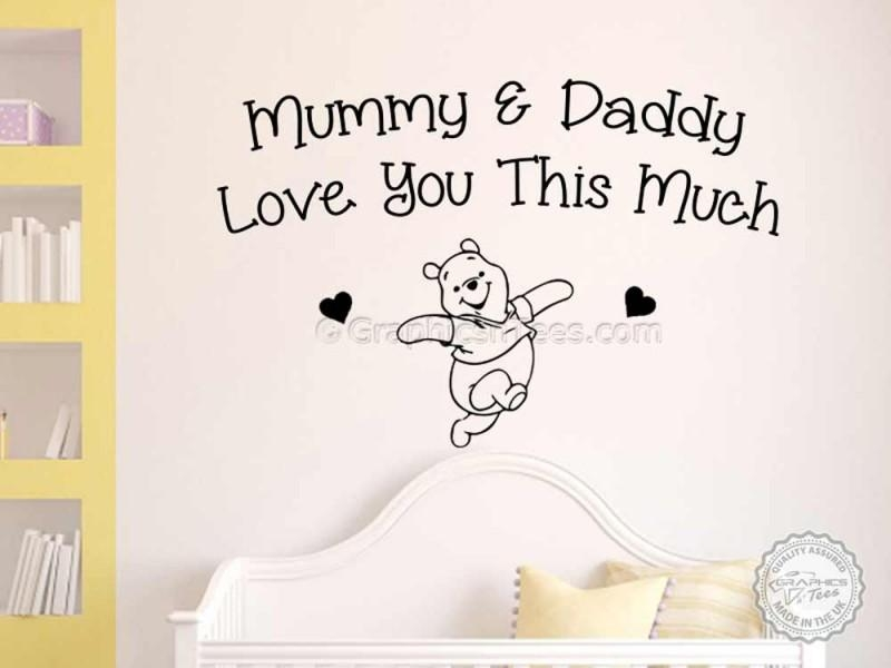 Nursery Wall Sticker Quote, Winnie The Pooh Bedroom Wall Decor In Winnie The Pooh Nursery Quotes Wall Art (Image 11 of 20)