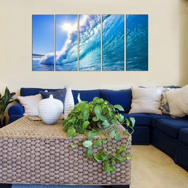 Ocean Theme Wall Art – Beach Style – Living Room – New York – Within Vibrant Wall Art (View 12 of 20)