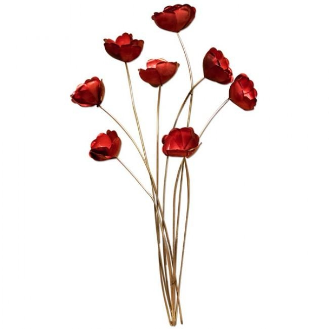 Of Red Poppies Metal Wall Art For Metal Poppy Wall Art (View 9 of 20)