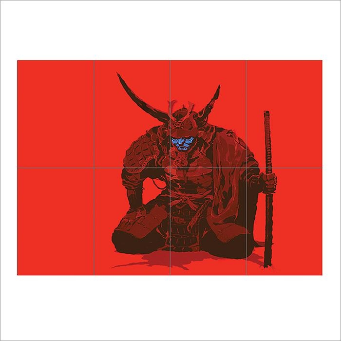 Of Ronin Samurai Warrior Katana Sword Block Giant Wall Art Poster With Samurai Wall Art (Image 10 of 20)