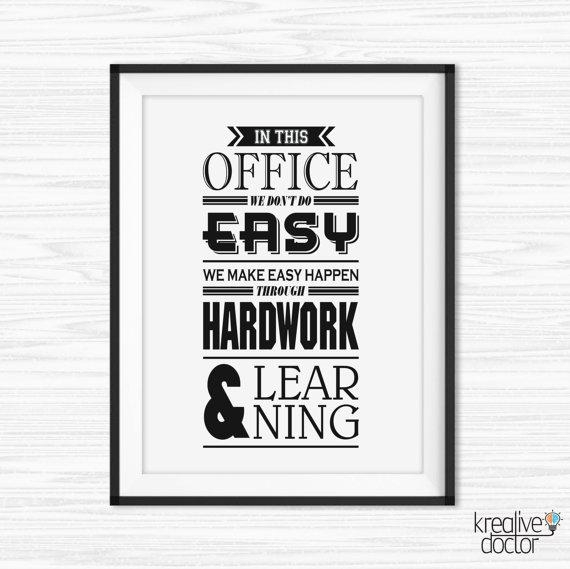 Office Wall Art Motivational Poster Inspiration Canvas Quotes Within Inspirational Wall Art For Office (Image 15 of 20)