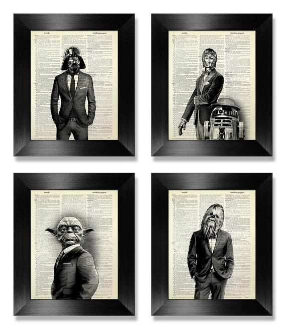 Office Wall Art Set Of Prints Star Wars Art Print Set With Regard To Wall Art Print Sets (View 19 of 20)