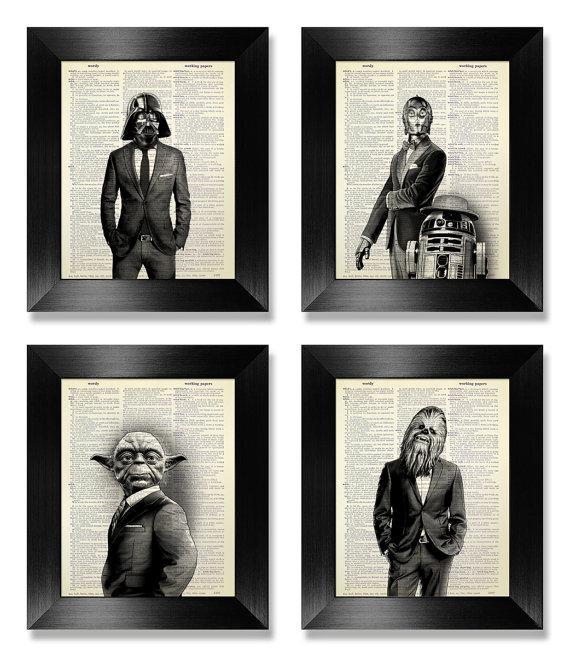 Office Wall Art Set Of Prints Star Wars Art Print Set With Regard To Wall Art Print Sets (Image 16 of 20)