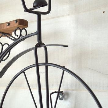 Old Fashioned Bicycle Wall Art, Black From 2Ndhandchicc On Etsy Throughout Metal Bicycle Wall Art (View 8 of 20)
