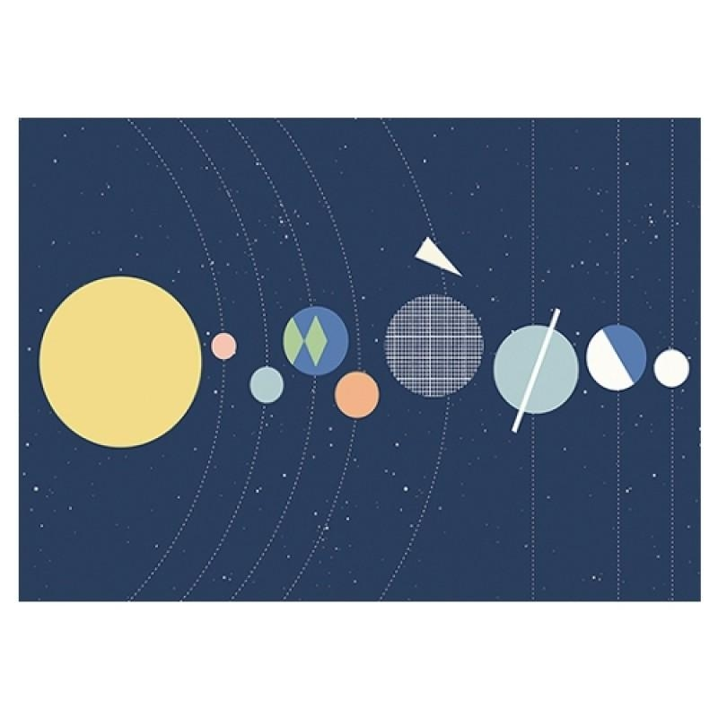 Olli Ella Solar System Poster | Kids' Wall Art | Ginger & May Within Solar System Wall Art (Image 16 of 20)
