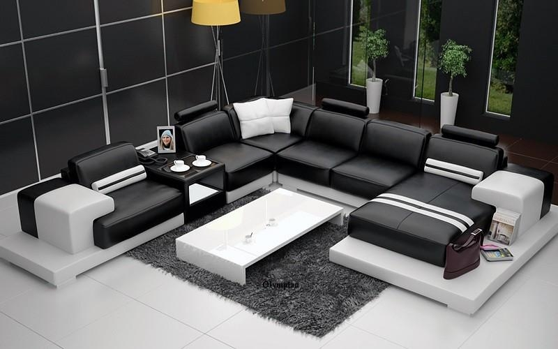 Olympian Sofas Nurburg Black & White Leather Sofa Pertaining To Black And White Leather Sofas (Image 16 of 20)