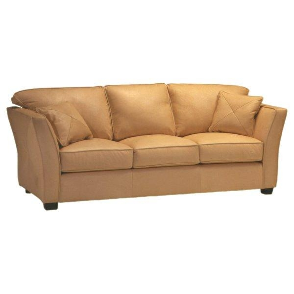 Omnia Leather Manhattan Leather Sofa & Reviews | Wayfair With Regard To Beige Leather Couches (Image 16 of 20)