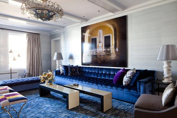 On My Mind Monday – Blue Sofas – Cuckoo4Design In Blue Velvet Tufted Sofas (View 15 of 20)