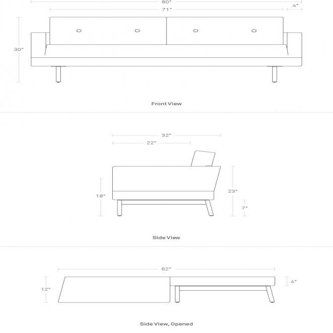 One Night Stand Modern Queen Sleeper Sofa | Blu Dot In Blu Dot Sleeper Sofas (View 14 of 20)
