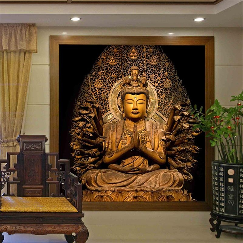 Online Buy Wholesale Buddha Wallpaper From China Buddha Wallpaper Intended For 3D Buddha Wall Art (Image 13 of 20)