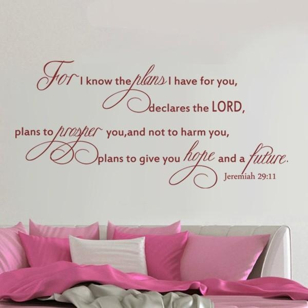 Online Buy Wholesale Christian Bible Verses Wall Decals From China For Bible Verses Wall Art (Image 15 of 20)