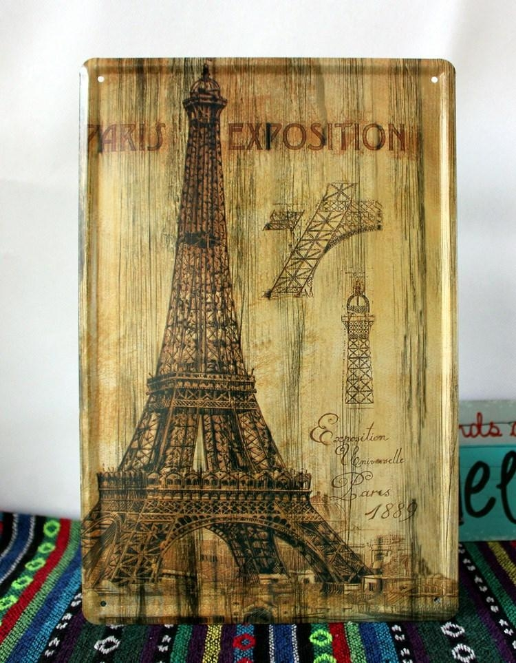 Online Buy Wholesale Eiffel Tower Metal Wall Art From China Eiffel In Eiffel Tower Metal Wall Art (Image 17 of 20)